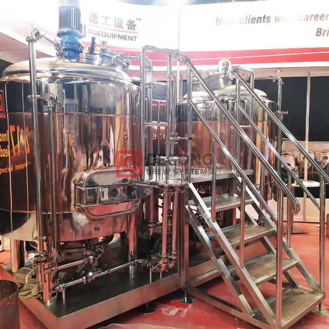 500L Mikrobryggeri Ale / lager Red Copper Pub Brewery Equipment for Ireland Market