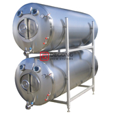 2000L isolert (ikke-isolert) horisontalt Beer Brite Tank Beer Serving Tank for beer storage / clear